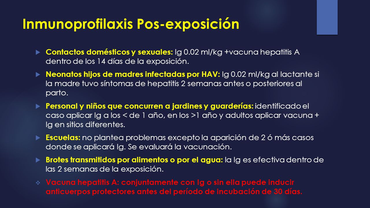 Inmunoprofilaxis Pos-exposición