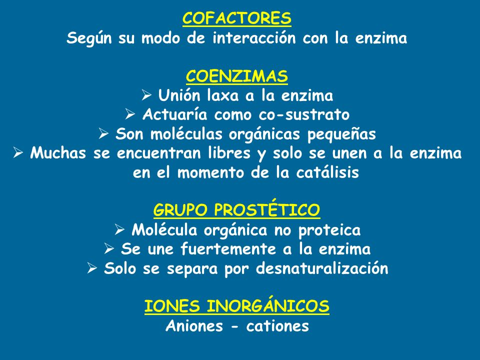Según su modo de interacción con la enzima COENZIMAS