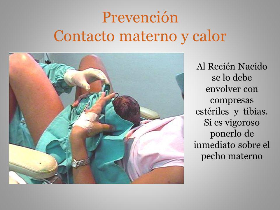 Prevención Contacto materno y calor
