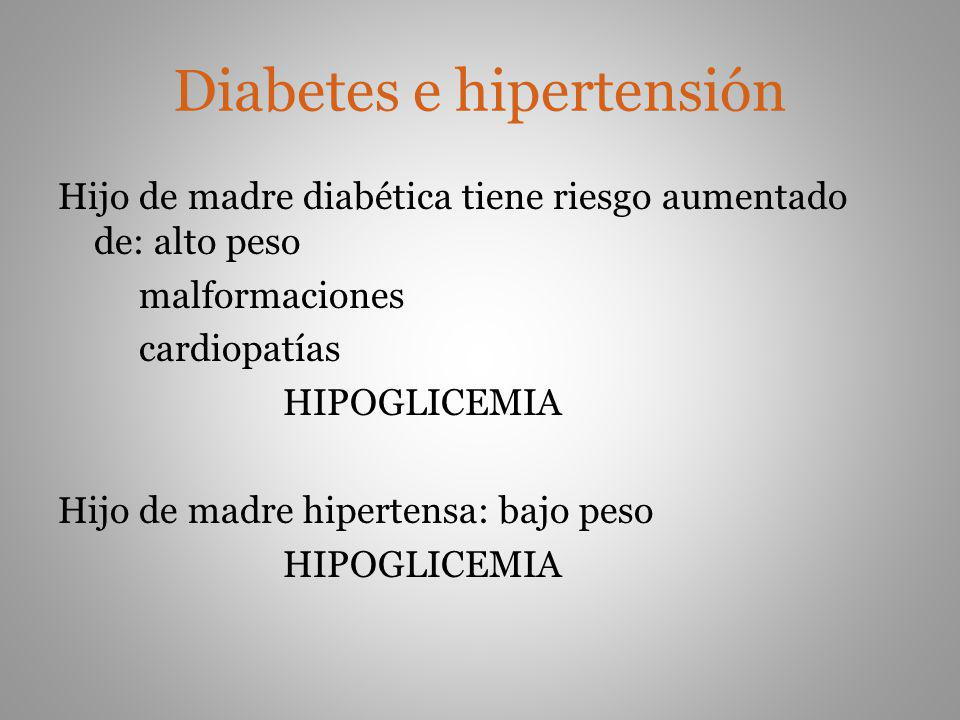 Diabetes e hipertensión