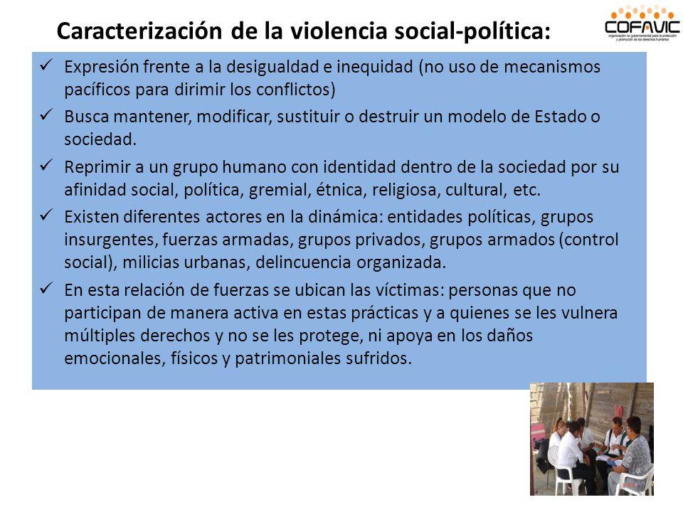 Caracterización de la violencia social-política:
