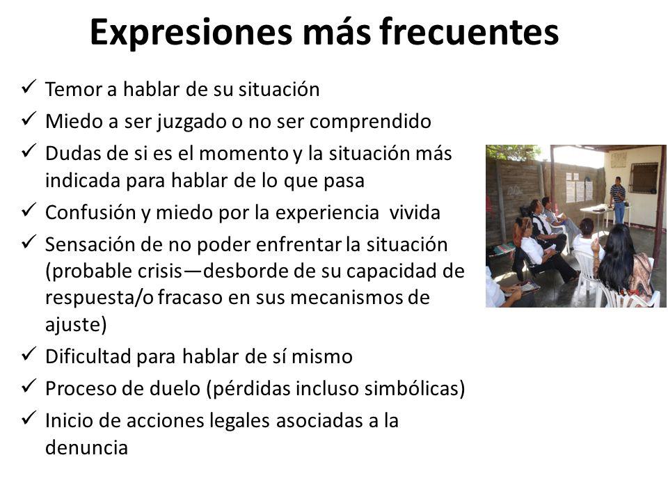 Expresiones más frecuentes