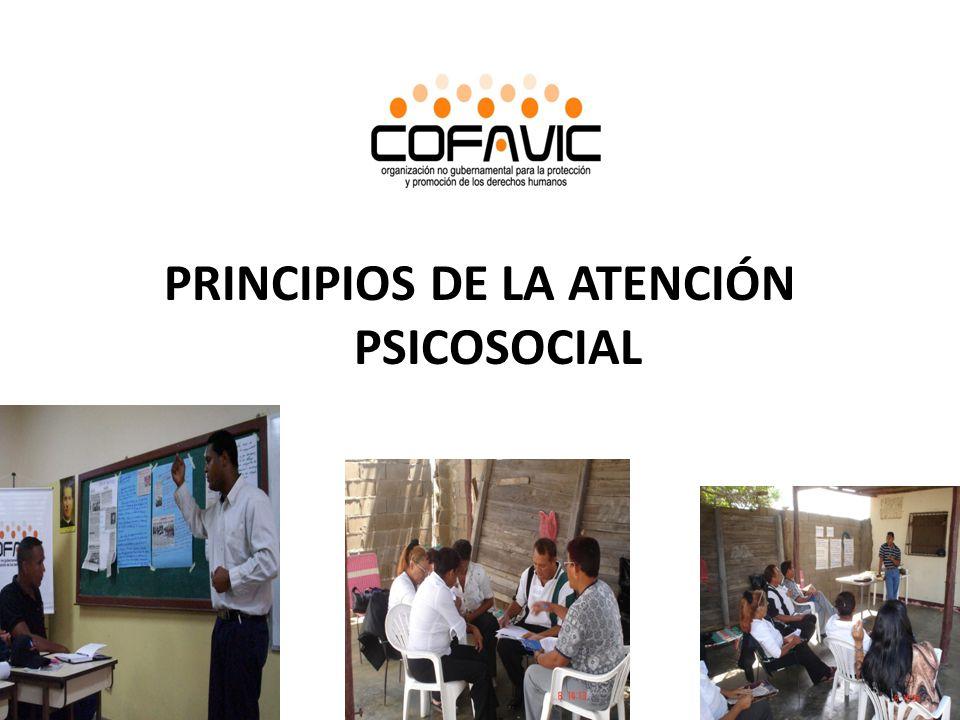 PRINCIPIOS DE LA ATENCIÓN PSICOSOCIAL