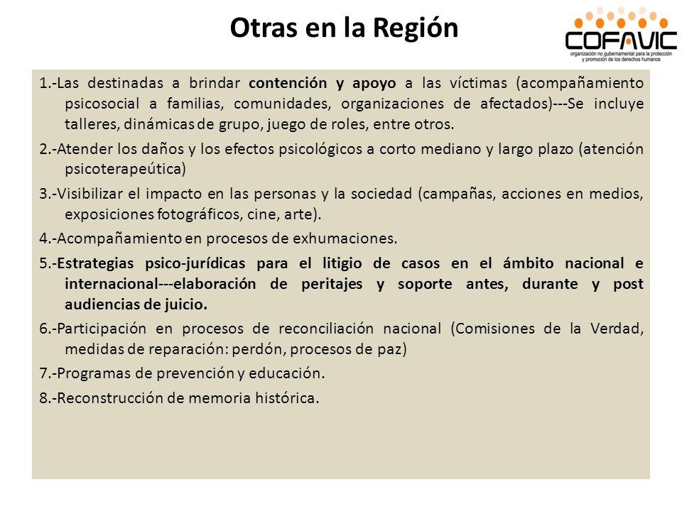 Otras en la Región