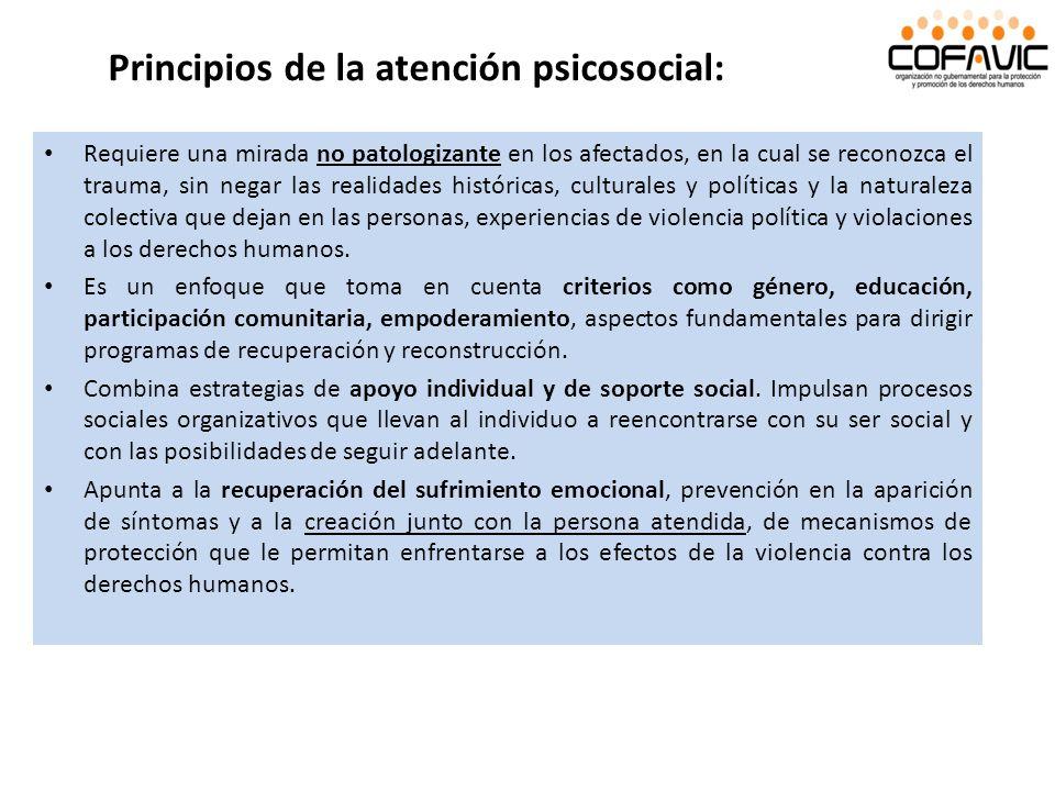 Principios de la atención psicosocial: