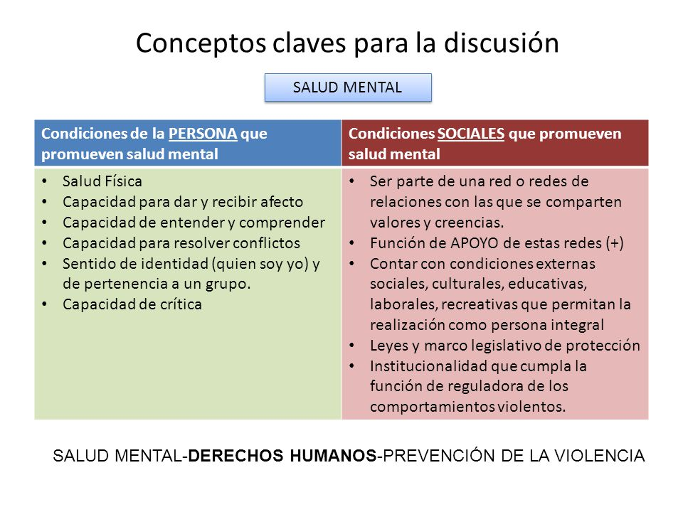 Conceptos claves para la discusión