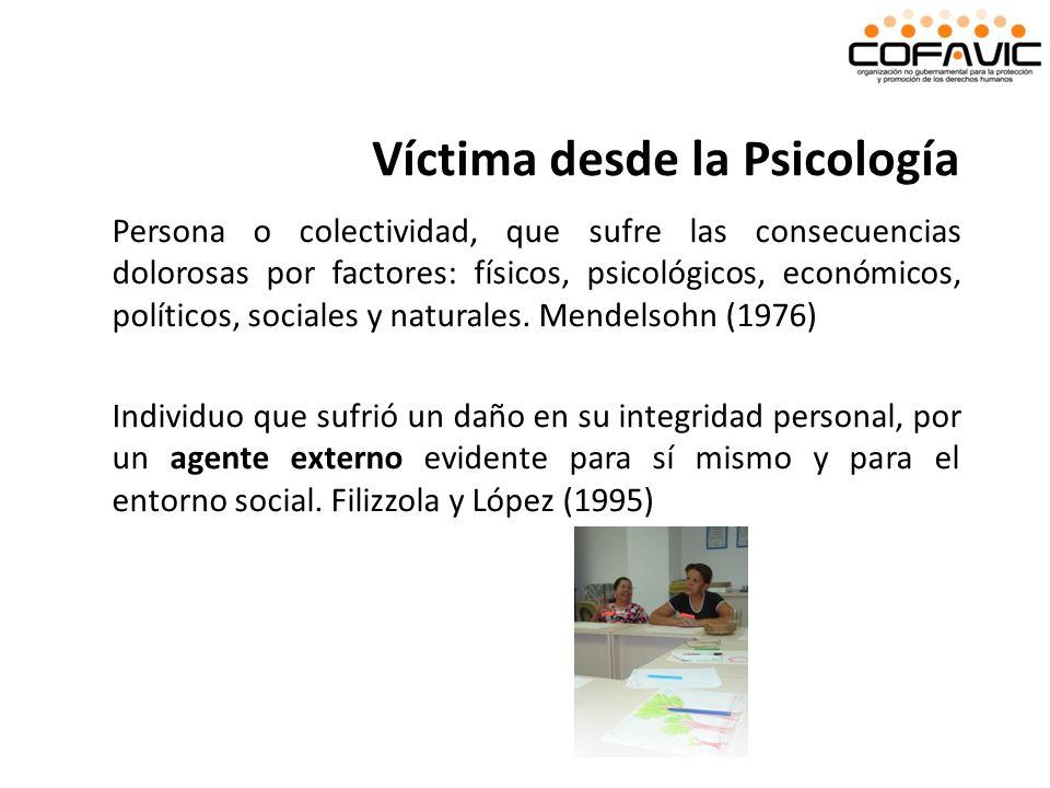 Víctima desde la Psicología