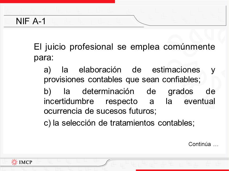 El juicio profesional se emplea comúnmente para: