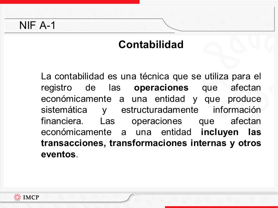 NIF A-1 Contabilidad.