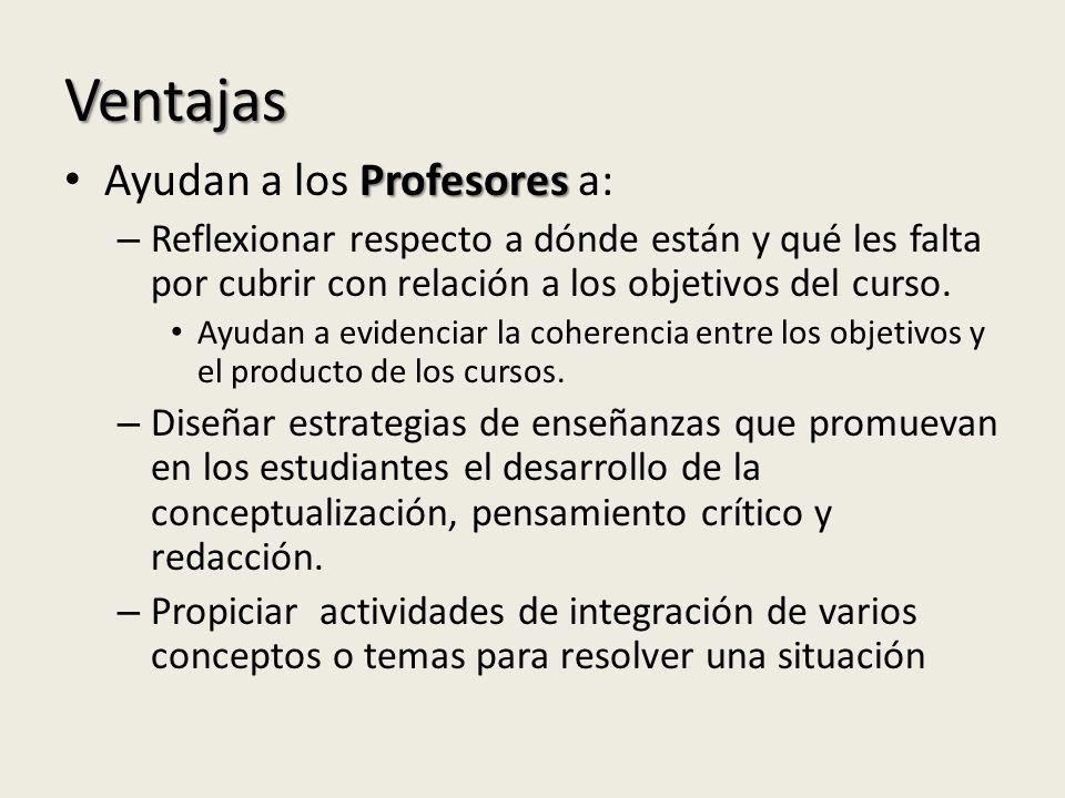 Ventajas Ayudan a los Profesores a: