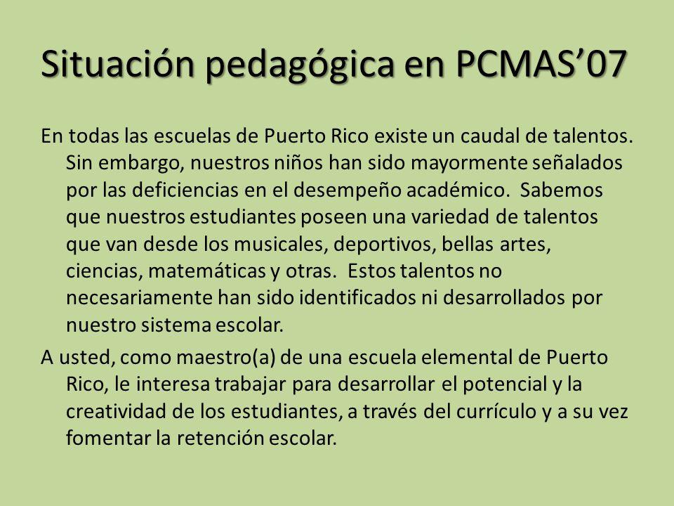 Situación pedagógica en PCMAS'07