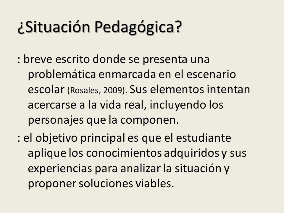 ¿Situación Pedagógica