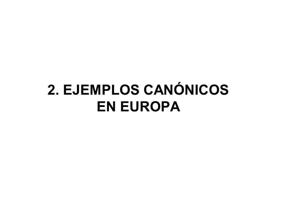 2. EJEMPLOS CANÓNICOS EN EUROPA