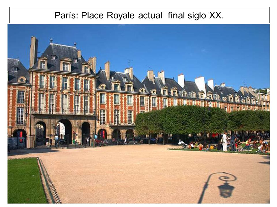 París: Place Royale actual final siglo XX.