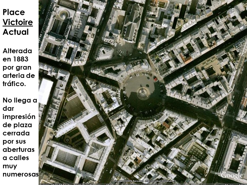 Place Victoire Actual Alterada en 1883 por gran arteria de tráfico