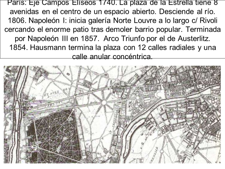 París: Eje Campos Elíseos 1740