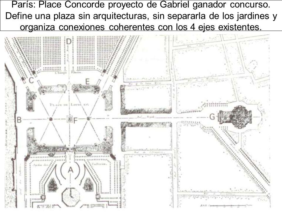 París: Place Concorde proyecto de Gabriel ganador concurso
