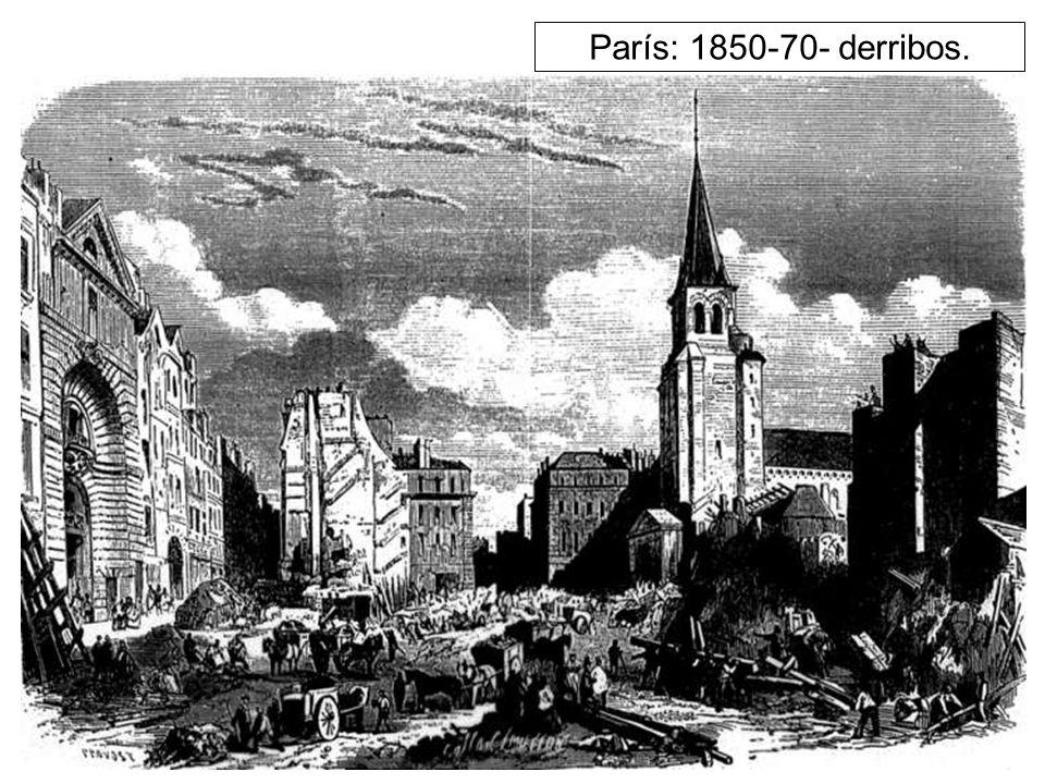 París: 1850-70- derribos.