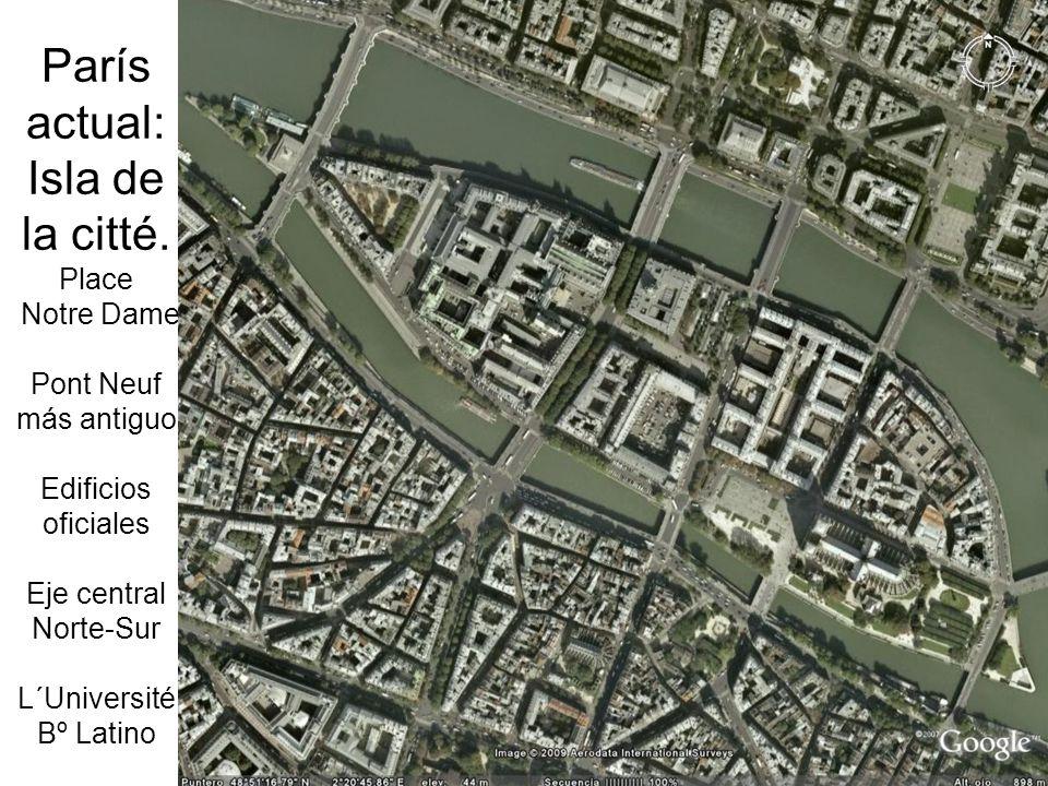 París actual: Isla de la citté