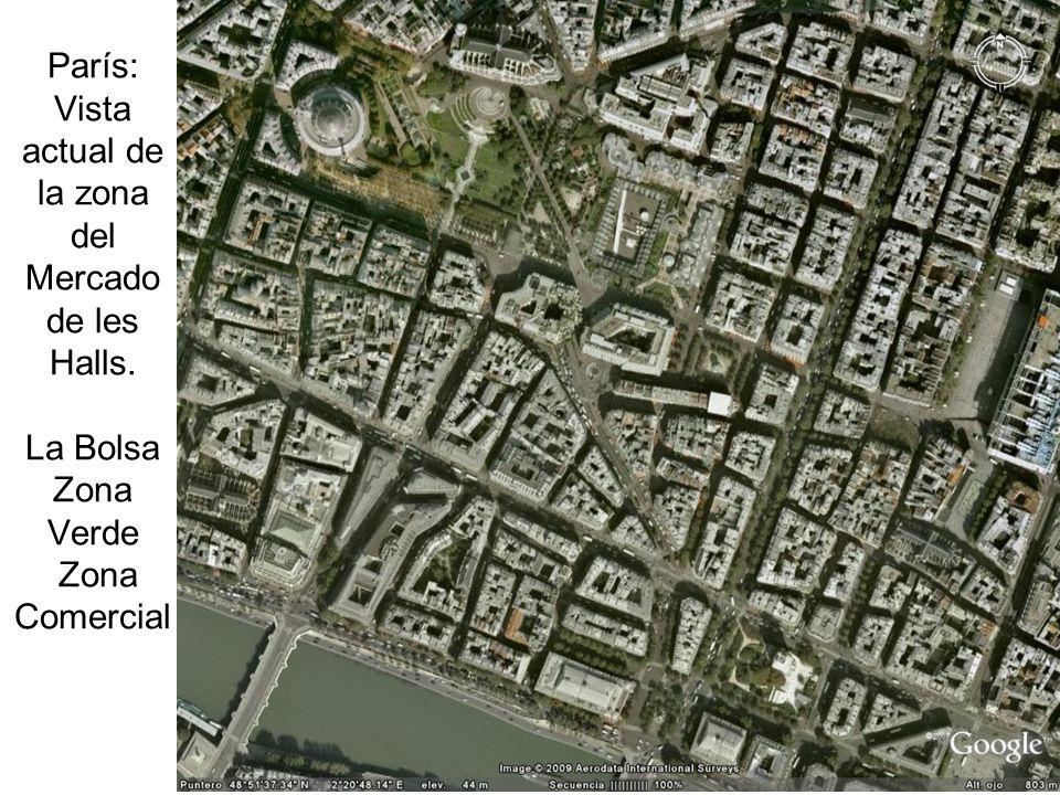 París: Vista actual de la zona del Mercado de les Halls