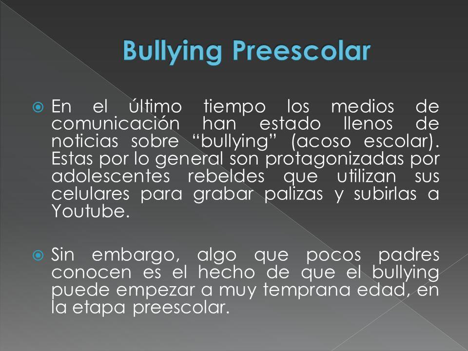 Bullying Preescolar