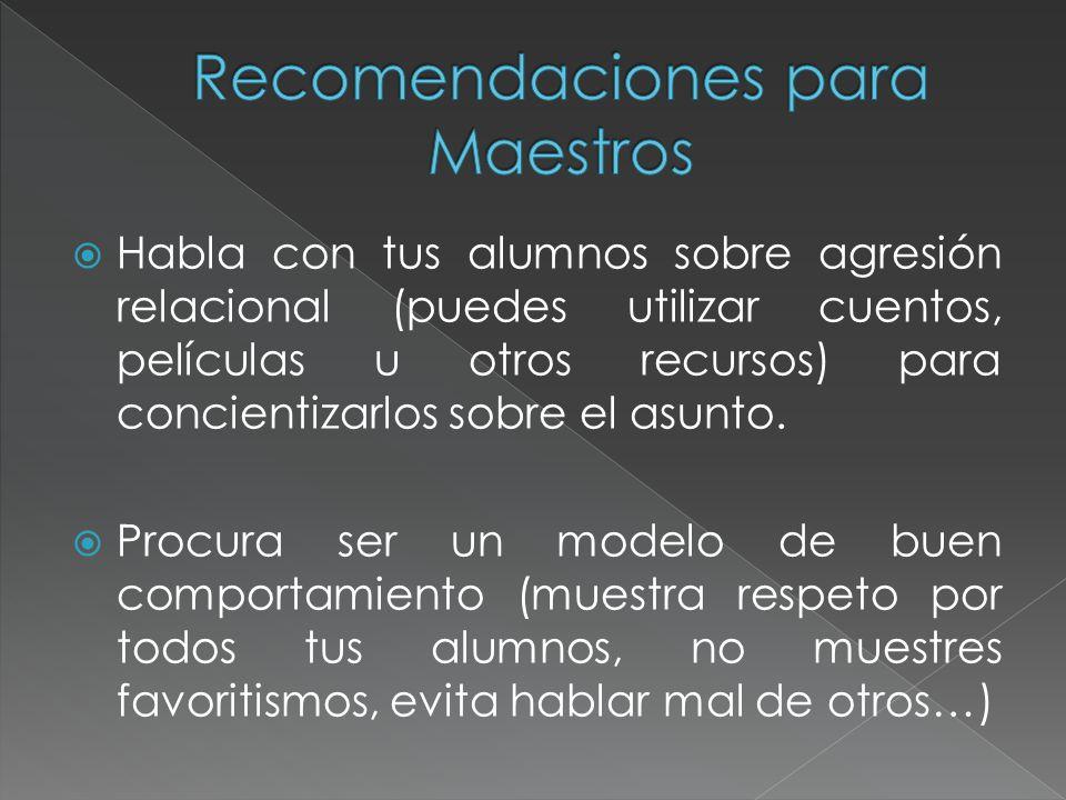 Recomendaciones para Maestros