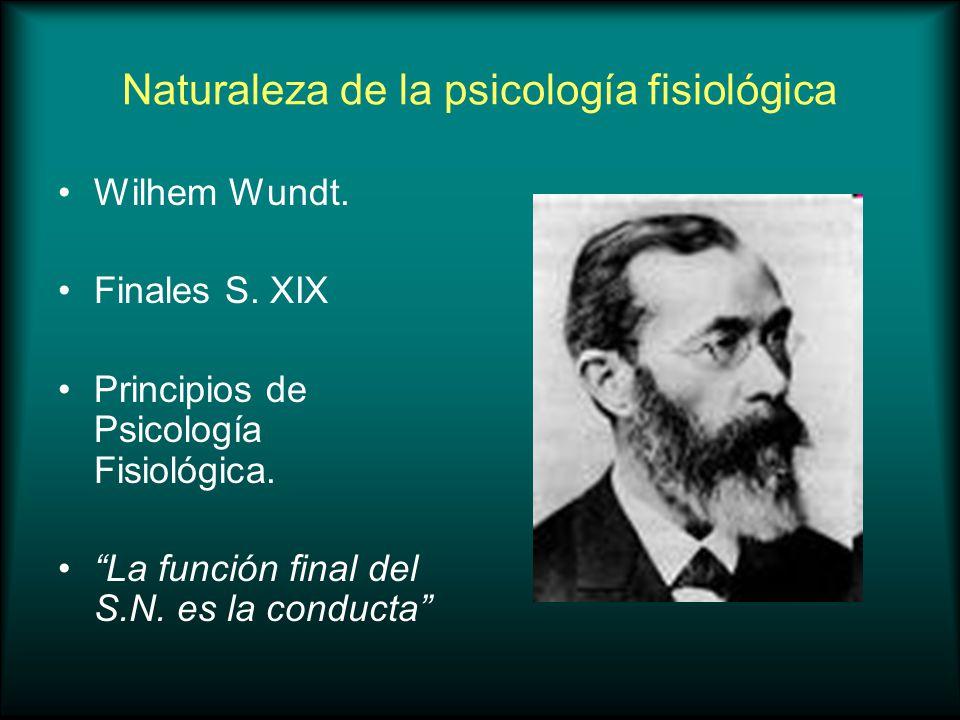 Naturaleza de la psicología fisiológica