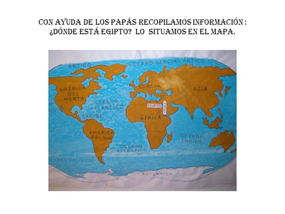 CON AYUDA DE LOS PAPÁS RECOPILAMOS INFORMACIÓN : ¿DÓNDE ESTÁ EGIPTO