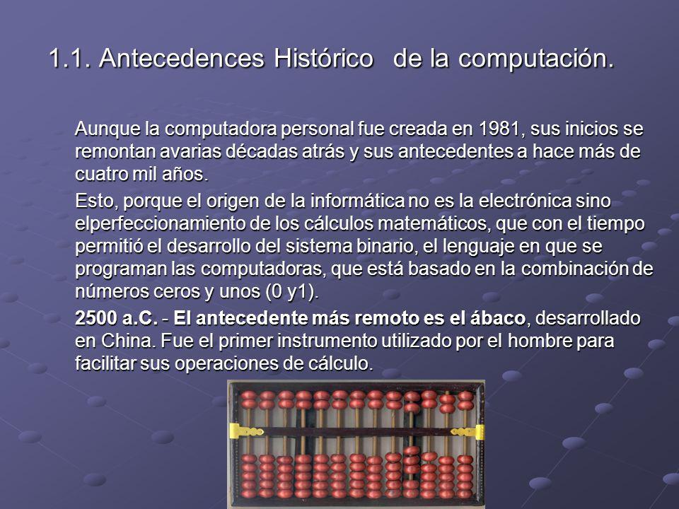 1.1. Antecedences Histórico de la computación.