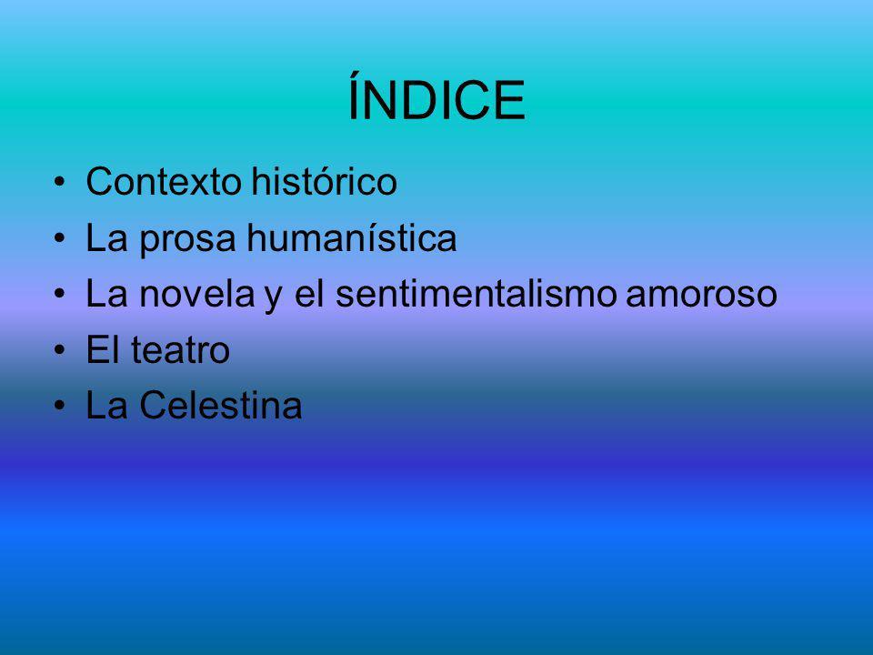 ÍNDICE Contexto histórico La prosa humanística