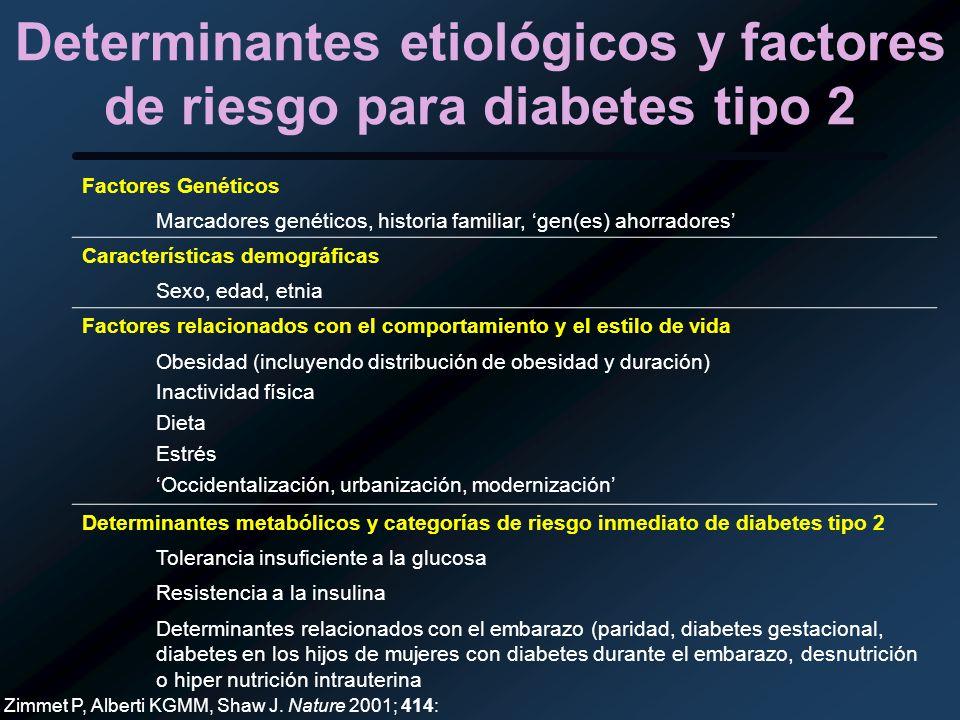 Determinantes etiológicos y factores de riesgo para diabetes tipo 2