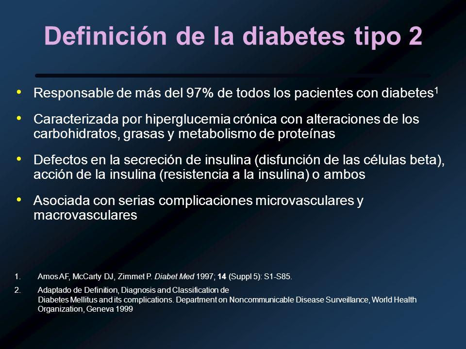 Definición de la diabetes tipo 2