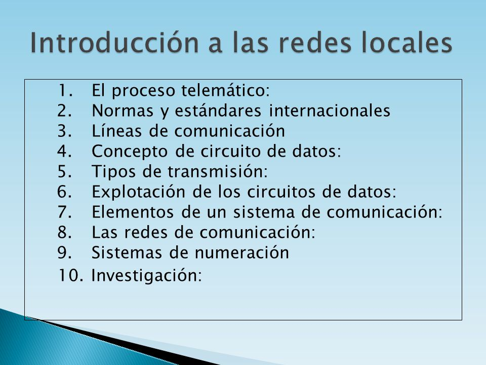 Introducción a las redes locales