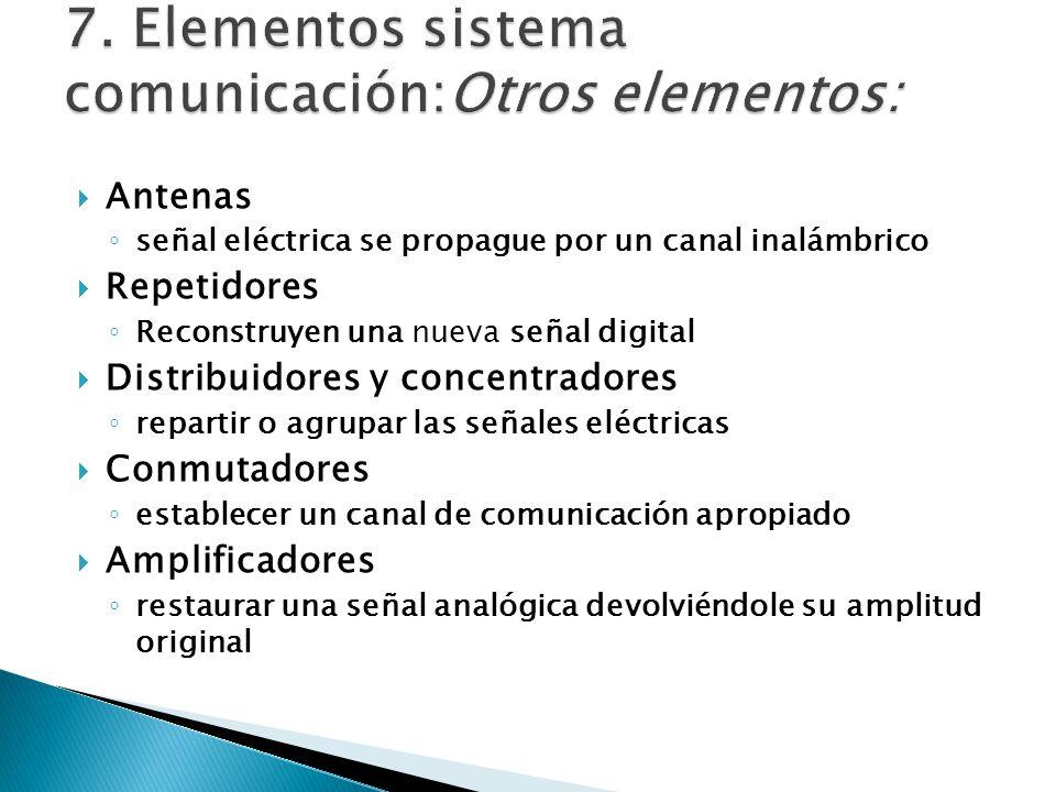 7. Elementos sistema comunicación:Otros elementos: