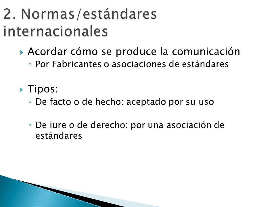 2. Normas/estándares internacionales