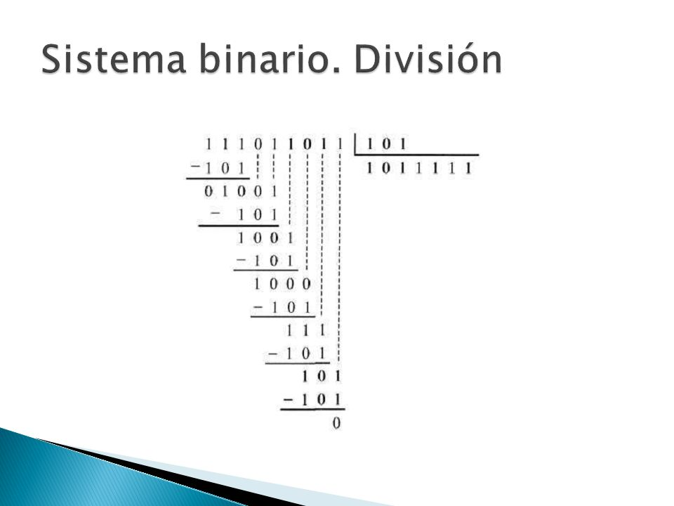 Sistema binario. División