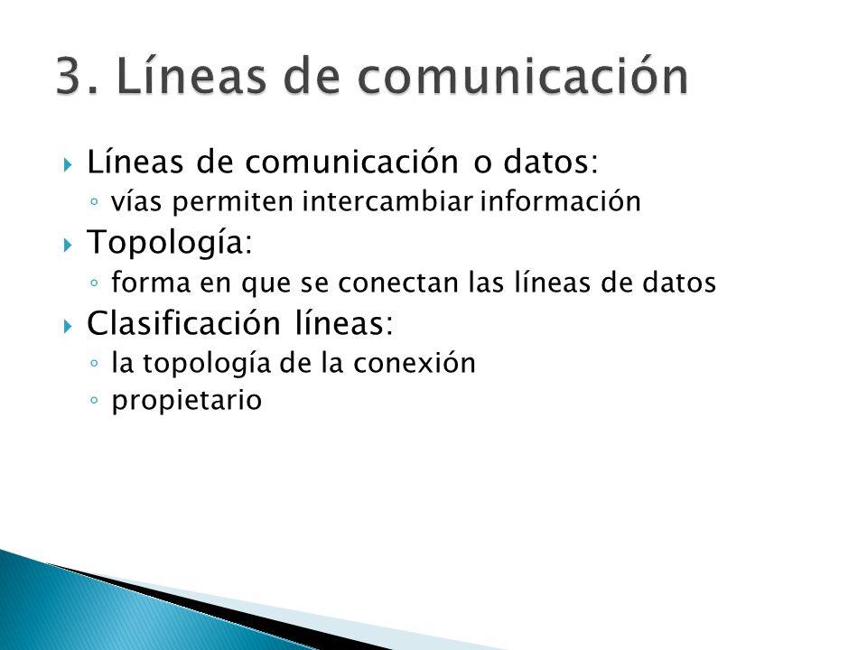 3. Líneas de comunicación