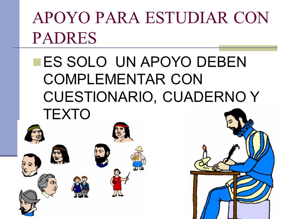 APOYO PARA ESTUDIAR CON PADRES