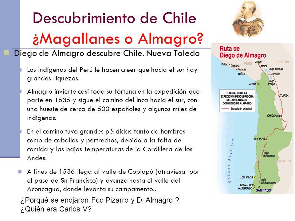 Descubrimiento de Chile ¿Magallanes o Almagro
