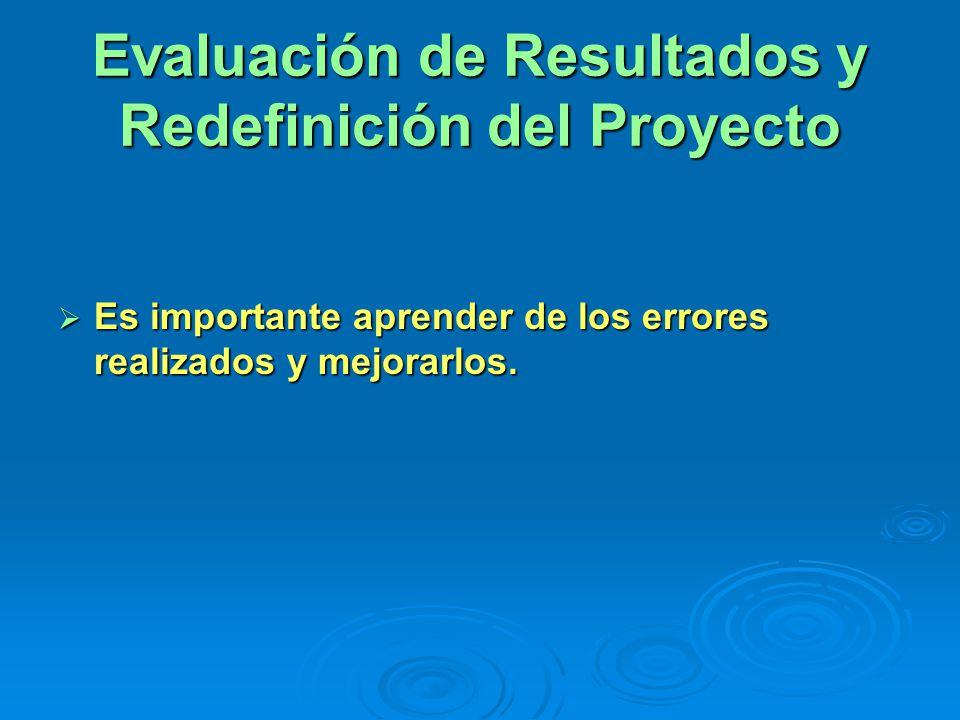 Evaluación de Resultados y Redefinición del Proyecto