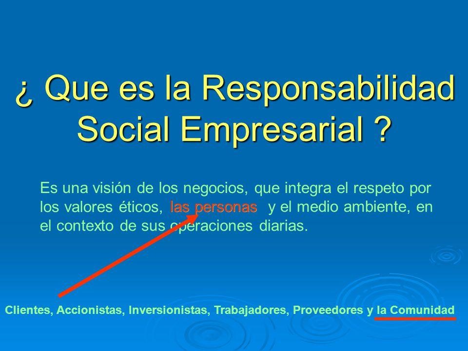 ¿ Que es la Responsabilidad Social Empresarial