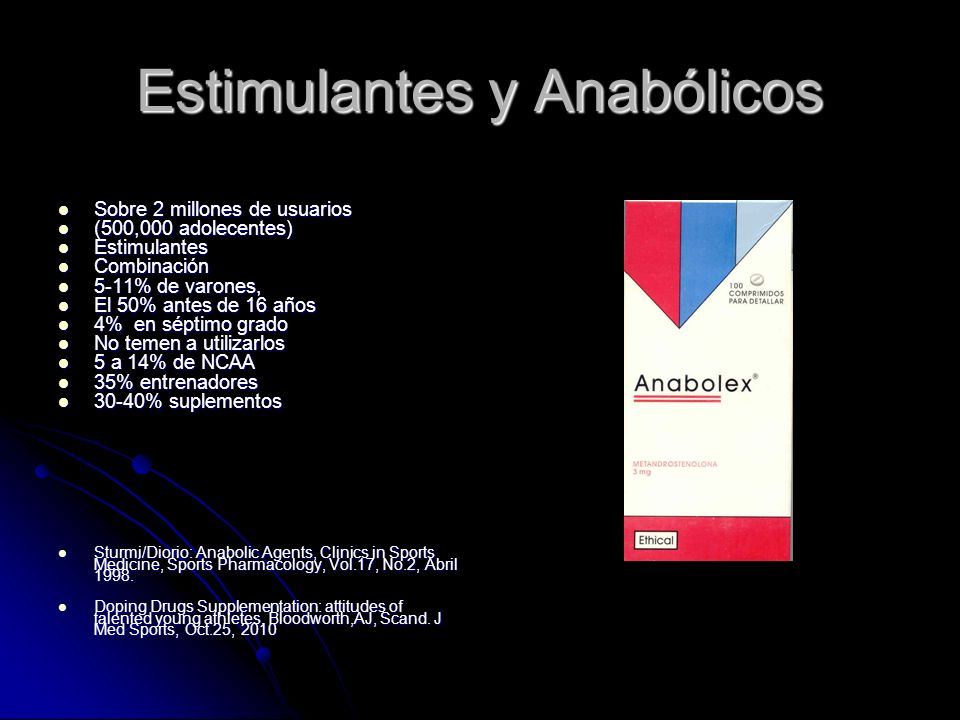 Estimulantes y Anabólicos