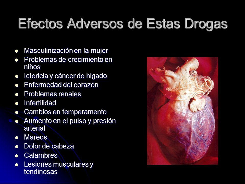 Efectos Adversos de Estas Drogas