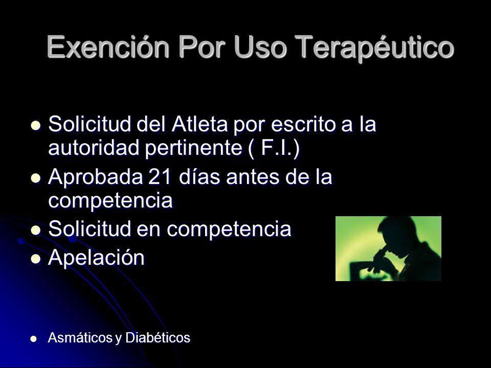 Exención Por Uso Terapéutico