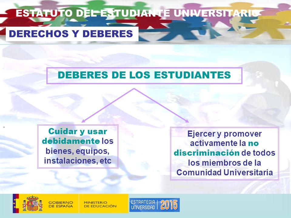 DEBERES DE LOS ESTUDIANTES