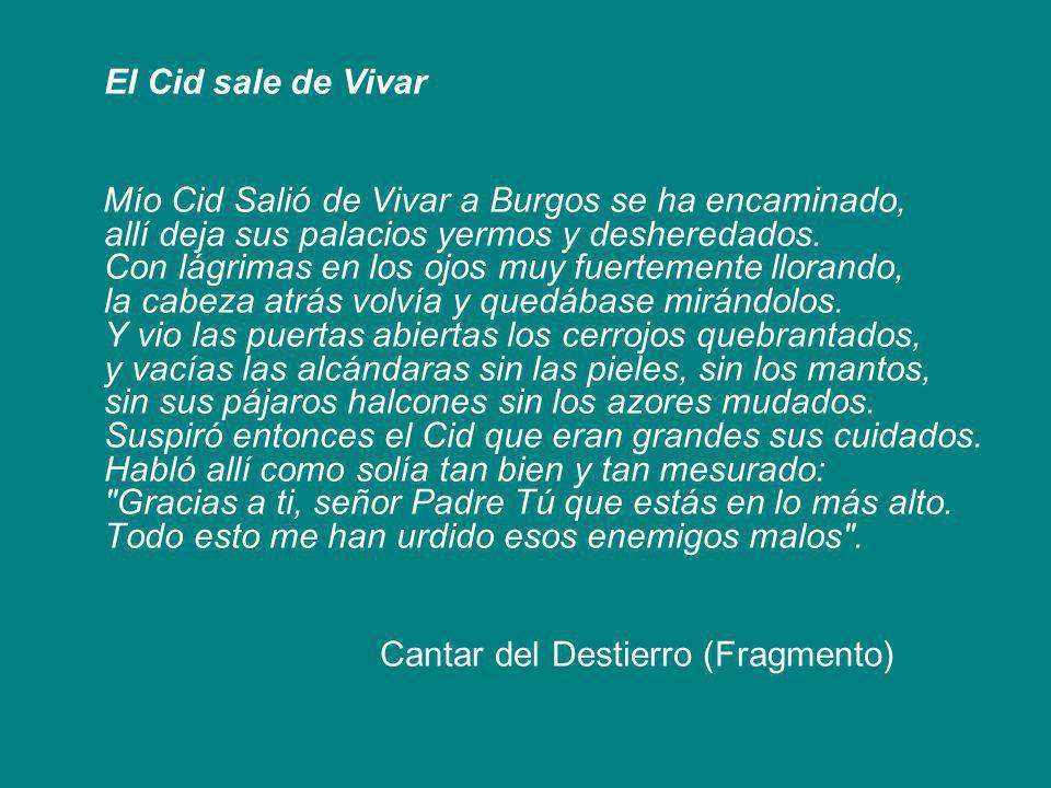 El Cid sale de Vivar