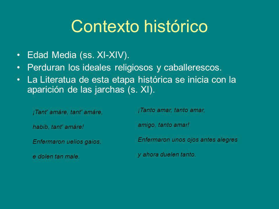 Contexto histórico Edad Media (ss. XI-XIV).