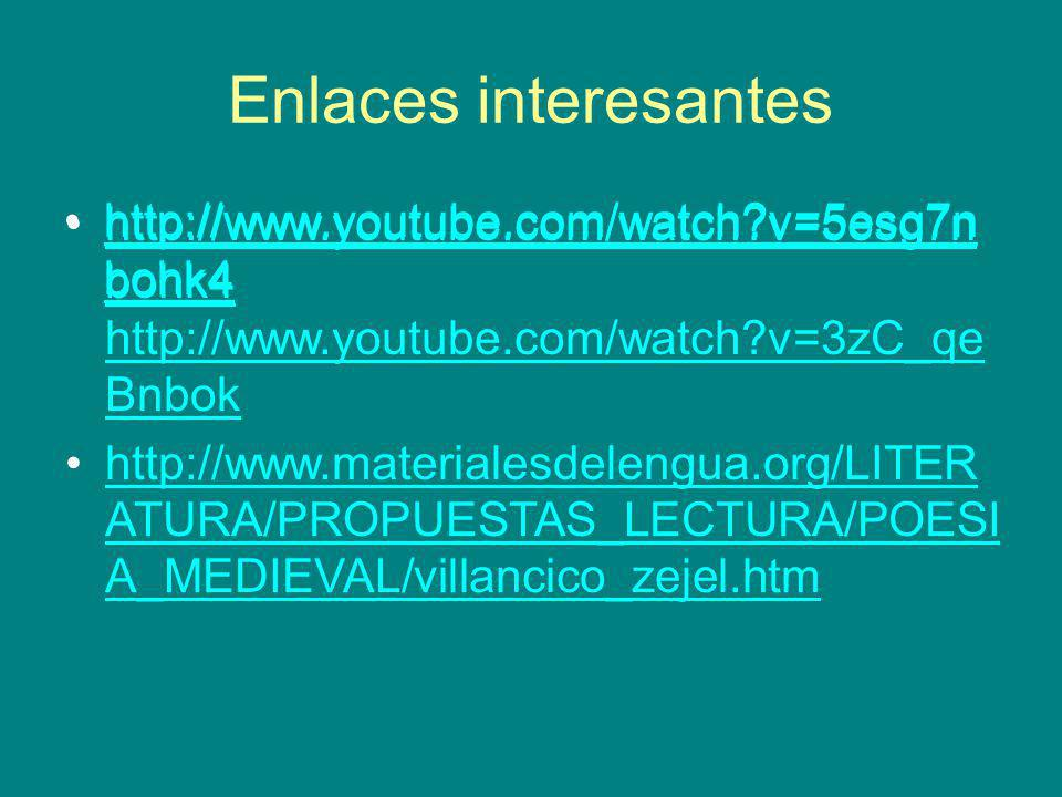 Enlaces interesantes http://www.youtube.com/watch v=5esg7nbohk4