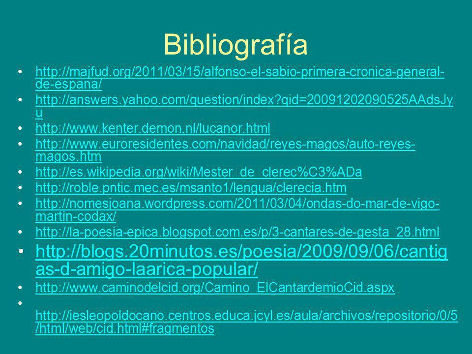 Bibliografía http://majfud.org/2011/03/15/alfonso-el-sabio-primera-cronica-general-de-espana/