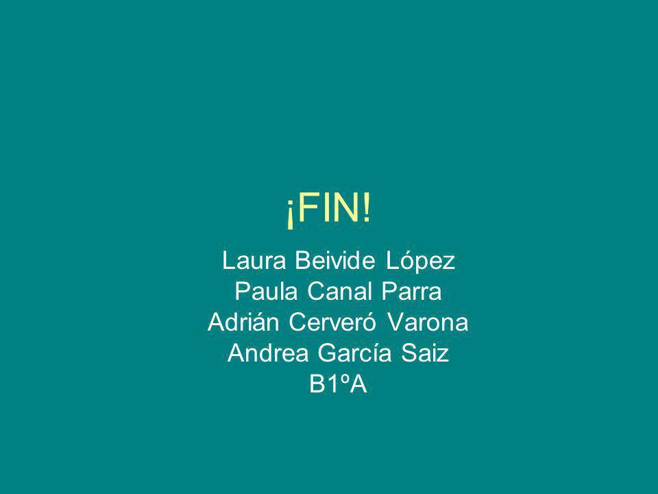 ¡FIN! Laura Beivide López Paula Canal Parra Adrián Cerveró Varona
